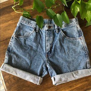 Rustler High Waisted Cut Off Denim Shorts Size 31
